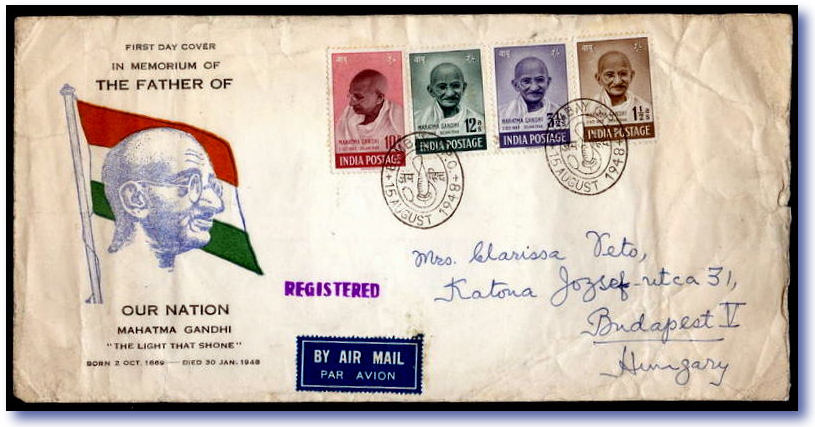 INDIA and Gandhi stamp market is RED HOT  New SG 2012